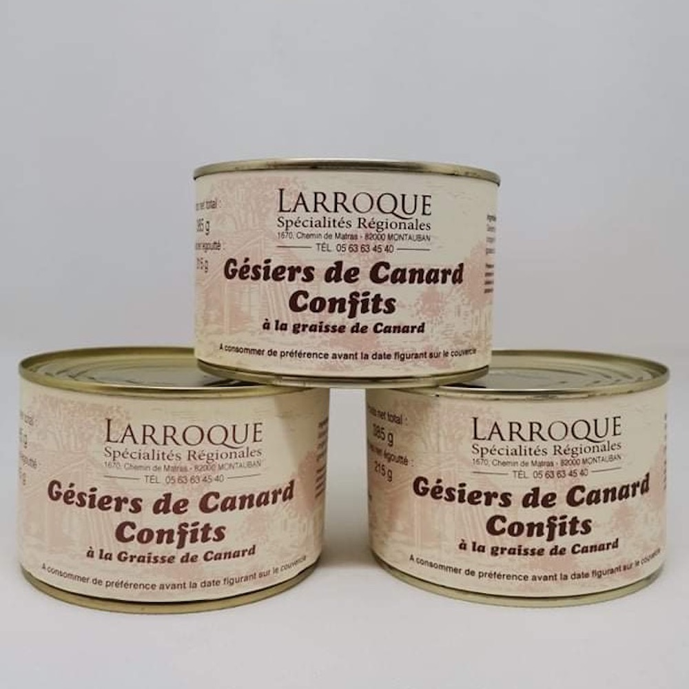 GESIERS DE CANARD CONFITS